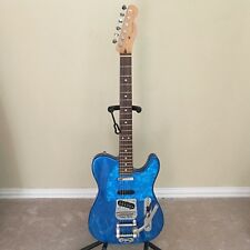 OOAK Fender Telecaster Made in U.S.A. Blue with True Fire Custom Painted Flames