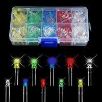 375PCS/Set 3V 3mm/5mm 5 Colors LED Bulb LED Light Emitting Diode Assorted