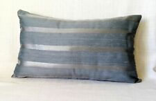 Light blue Duck egg Silver colour striped cushion covers 12x20'' rectangular BN