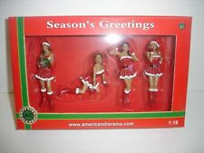 1/24 scale American Diorama 2014 Christmas Collection - 4 female figurines