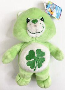 Care Bear Good Luck Bear 2002 21cm, 4 Leaf Clover Luck of the Irish BNWT 1 mark