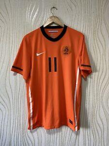 NETHERLANDS 2010 2012 HOME FOOTBALL SHIRT SOCCER JERSEY NIKE 376906-815 ROBBEN