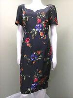 Maggy London Vintage Multi-Colored Floral Dress ~Size 8