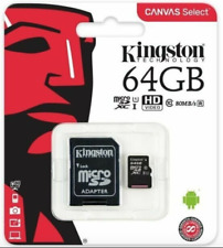 Kingston 64gb Micro SD SDXC Memory Card UHS 1 Class 10 With Adapter Phone Camera