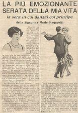 W1668 Cipria TOKALON e ballai col Principe - Pubblicità del 1926 - Old advert