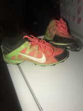 Nike Youth Cleats Size 5 Black/Green/Pink