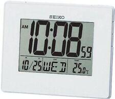 Orologi e sveglie da casa bianco Seiko in plastica