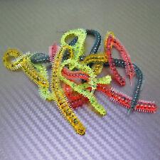 Bristle Lug Rag Worm Grub Ribbed Soft Plastic Lure Hook Fishing Tackle 100mm