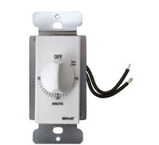 Wall Spring Wound Countdown Timer Switch 20 Amp White Automatic Standard 30 Min