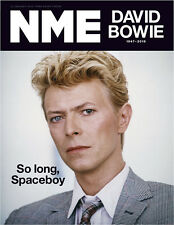NEW MUSICAL EXPRESS NME 15 JANUARY 2016 DAVID BOWIE Tribute Cover n.m.e.