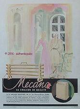 PUBLICITE MECANO RADIATEUR POELE  BOUILLOTTE DE 1946 FRENCH AD PUB ART DECO