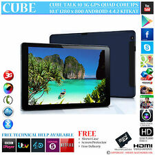 "CUBE TALK 10 3G GPS QUAD CORE 16GB 10.1"" IPS 4.4.2 ANDROID PHONE TABLET PC"