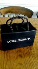 D&G Dolce and Gabbana Small BLACK Gift Bag NEW