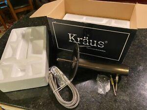 Kraus Single Handle Waterfall Lavatory Faucet KGW-1700ORB BLUE GLASS