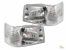 93 94 95 96 97 98 Grand Cherokee Headlights + Corner Lights RH + LH