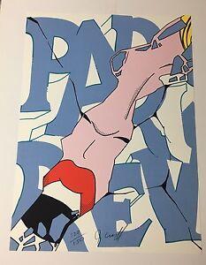 """John """"Crash"""" Matos Pop Art Serigraph, """"Paris Review"""", Signed, Numbered 30"""" x 22"""""""