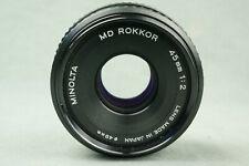 Vintage MINOLTA MD ROKKOR 2.0/45 Standard-Objektiv