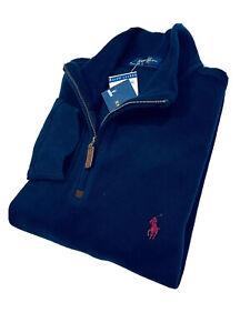 Ralph Lauren Men's Estate-Rib Quarter-Zip Pullover (Navy)  RRP £125