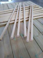 10 Lengths of - 25mm Wooden Pine Dowels - 90/110 cm long