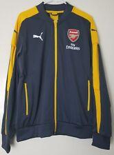 Puma Arsenal Stadium Mens Soccer Jacket Gray Yellow Size Medium