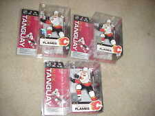 MCFARLANE NHL 13**ALEX TANGUAY**WHITE CALGARY FLAMES  JERSEY**LOT of 3**