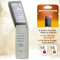 For Liftmaster 977LM Keypad Wall Garage Door Opener 139.53754 Red Orange Learn