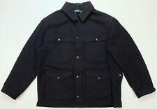 Rare Vintage POLO RALPH LAUREN 4 Breast Pocket Wool Blazer Bomber Jacket 90s XL