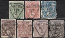 Ethiopia:1908, Postage due: Stamps of 1894 with overprint, Mint