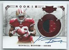 2011 Plates & Patches Kendall Hunter PRIME PATCH RELIC AUTO RC #231 464/499