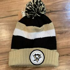 NHL Mitchell & Ness NHL Pittsburgh Penguins Gold Knit Hat