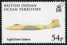English Electric CANBERRA Bomber Aircraft Stamp / 2008 RAF 90th Anniversary BIOT