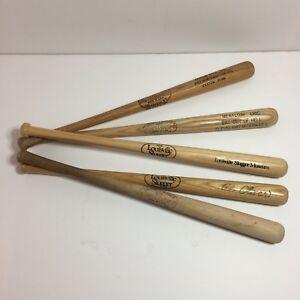 Set of 5 Louisville Slugger Bat Factory Mini Wood Baseball Bats