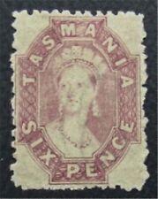 nystamps British Australian States Tasmania Stamp # 32 MOGH $170  O22x1826