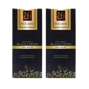 2 Box Ganoderma Black Coffee Nugano Schwarzer Kaffee OG Kostenloser Versand
