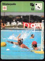 1977 Sportscaster Card Waterpolo # 09-18 NRMINT.