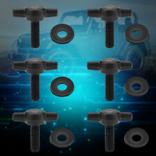 6x Universal Removal Hard Top Thumb Screws Nuts Bolts for Jeep Wrangler YJ TJ JK