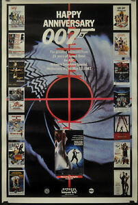 HAPPY ANNIVERSARY 007 1987 ROLLED ORIG 27X41 ABC TV MOVIE POSTER JAMES BOND
