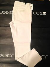 """NWT Womens Joes Jeans White 25"""" Rolled Crop Denim Jeans Size 30 Retails 158"""