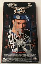 Andrew Bryniarski Signed Auto Zangief Street Fighter VHS Movie Beckett BAS COA