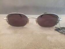 MAJI MASATOMO Vintage OVAL Sunglasses TITANIUM Model M1-102 Matte Silver