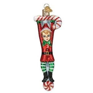 Old World Christmas PLAYFUL ELF (24206)N Glass Ornament w/ OWC Box