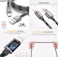 Cable Cargador Datos iPhone - Lightning 8 Pines A USB - Longitud 1 Metro