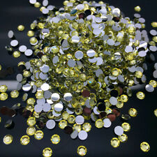 4mm 6mm 8mm 10mm Purple Facets Resin Rhinestone Gems Flat Back Crystal Beads