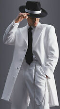 Boys Size 16 White Long Tuxedo Jacket Frock Gangster Costume Formal Zoot Suit