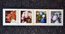 2017USA #5233-5236a Forever - Flowers From the Garden - Coil Strip of 4  Mint