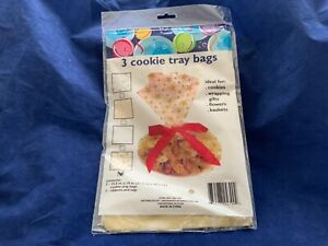 3-PACK COOKIE TRAY BAGS WRAPPING GIFTS BASKETS FLOWERS