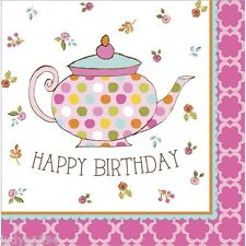 TEA TIME NAPKINS PARTY TABLE DECORATIONS BIRTHDAY MAD HATTER ALICE IN WONDERLAND