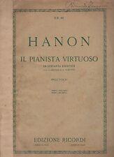 hanon il pianista virtuoso in sessanta esercizi con le aggiunte di a. shotte