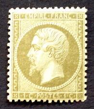 timbre france, n°19, 1c vert/vert napoleon non lauré, BC neuf ** cote 240 € +50%