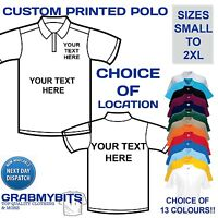 CUSTOM PERSONALISED DESIGN YOUR OWN POLO SHIRT STAG HEN HOLIDAY - MENS